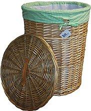 dvier Laundry Basket Willow Beige Round Diameter