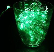 DVMRUIB 5M/16.5Ft 50leds Green Led Ultra Thin AA