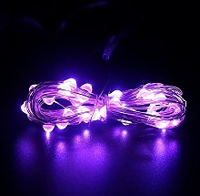 DVMRUIB 5M/16.5Ft 50leds Purple Led Ultra Thin AA