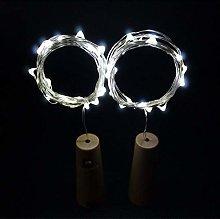 DVMRUIB Wine Bottle Lights 2M/6.7Ft 20 Cold White