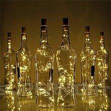 DVMRUIB Wine Bottle Lights 2M/6.7Ft 20 Warm White