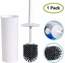 Dvuboo Silicone Toilet Brush Holder Set, Bathroom