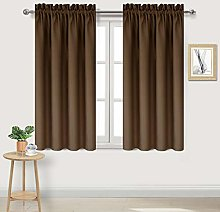 DWCN Brown Blackout Curtains for Bedroom – Rod