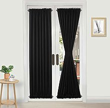 DWCN French Door Curtains - Rod Pocket Thermal