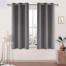 DWCN Light Grey Blackout Curtains Room Darkening