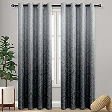 DWCN Ombre Blackout Curtains for Bedroom - Damask