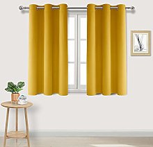 DWCN Yellow Blackout Curtains Room Darkening
