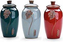 DWhui Ceramic Tea Jar Storage Jars Tins Cans