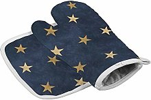 Dwi24isty Oven Mitt and Potholder (2-Piece Sets),