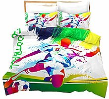 DWSM 3D Splash Watercolour Football Bedding Set,