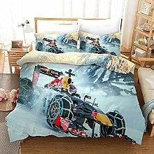 DWSM F1 3D Racing Car Duvet Cover – 3-Piece