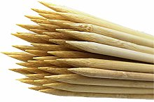 DXIA 200 Pcs Wooden Skewers Sticks, Natural Bamboo