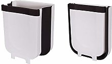 DXIA Trash Can, Small Hanging Waste Bin Folded,