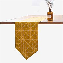 DXNXLLY Home decoration Yellow Geometric Table