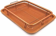 DXPSLGrvd Baking pan Microwave grill pan Copper