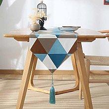 DXQDXQ Elegant Table Runner Multicolor Triangle