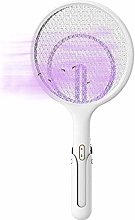 DXQDXQ Mesh 2 in 1 Bug Zapper Racket Electric Fly