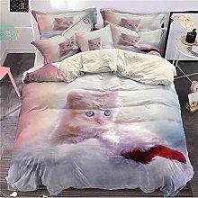 DXSX 3D Animal Cat Print Luxury Duvet/Quilt Cover