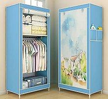 Dxtxx Single Wardrobe Fabric Cabinet, Clothes