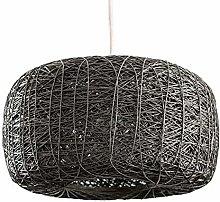 DXXWANG Ceiling Light Shade Grey Rattan Design