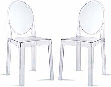 DXXWANG Chair Transparent Barstool Home Restaurant
