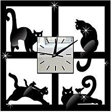 DXXWANG Hanging Wall Clock Cartoon Silent Square