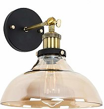 DXXWANG Industrial Wall Light Fitting Amber Tinted