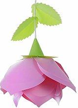 DXXWANG Pink + Green Rose Flower Ceiling Pendant