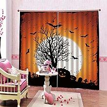 dxycfa 2 Panels Blackout Curtainsmoonlight Tree