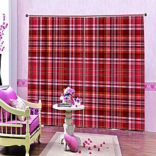 dxycfa 3D Printing Blackout Curtains Checkered