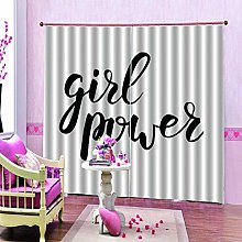 dxycfa 3D Printing Blackout Curtains Girls Room