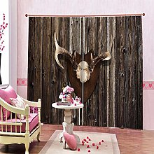 dxycfa 3D Printing Blackout Curtains Rural Beauty
