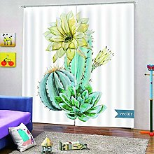 dxycfa 3D Stereoscopic Curtains Cactus 2 Panels