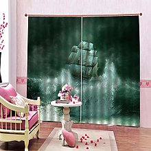 dxycfa 3D Stereoscopic Curtains Footprint Home
