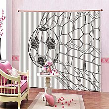 dxycfa 3D Stereoscopic Curtains Planet Art Living
