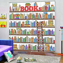 dxycfa Blackout Blind Curtains Bookshelf Home