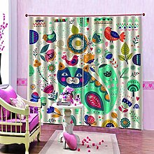 dxycfa Polyester Blackout 3D Window Curtains Color