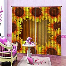 dxycfa Polyester Blackout 3D Window Curtains Green