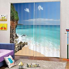 dxycfa Polyester Blackout 3D Window Curtains Magic