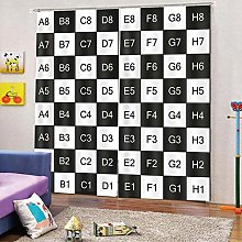 dxycfa Polyester Blackout 3D Window Curtains Retro