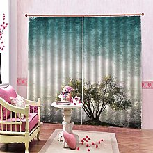 dxycfa Solid Thermal Curtains Red Cherry
