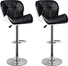 dxzsf Bar Stools Adjustable Stool with Low Back PU