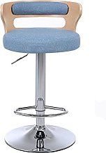 dxzsf Bar Stools Elegant Fabric Adjustable Height