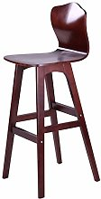 dxzsf Bar Stools Solid Wood Bar Chair with