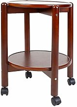 dxzsf Coffee Table Sofa Side Table Round Wooden