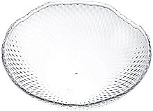 dxzsf Fruit Basket Crystal Transparent Fruit Plate
