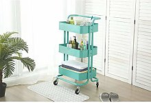 DyAn Kitchen Trolley Trolley With 3 Basket And