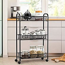 DyAn Storage Rack Trolley Cart Home Kitchen