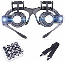 DYB Headband Magnifier With Led Light, Hands Free