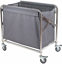 DYB Laundry Basket Sorter Folding Linen Cart with